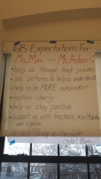 Student Generated Expectations for Ms. Adam