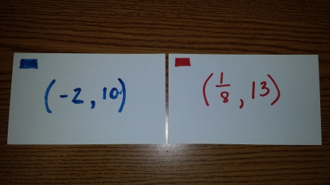 Math Note Cards